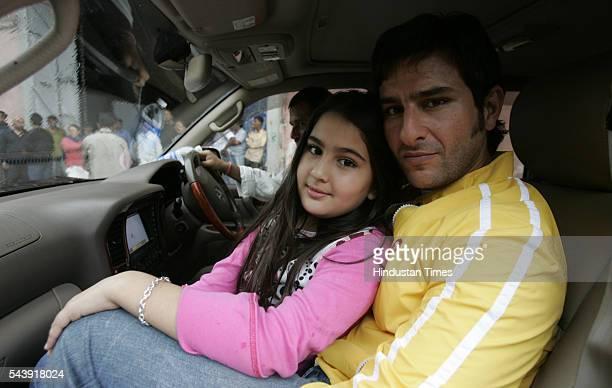 Bollywood actor Saif Ali Khan with his daughter Sara