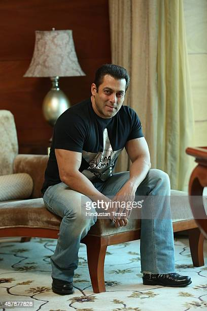 Bollywood actor Salman Khan during an exclusive interview with HT City/Hindustan Times for the promotion of an upcoming movie Hero on September 5...