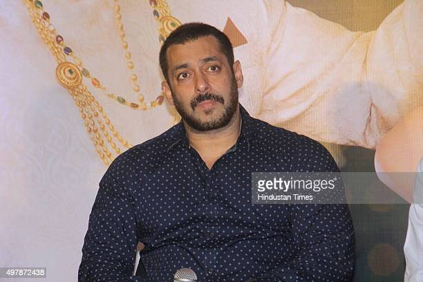 Bollywood actor Salman Khan during the press conference organised to thank the audience for the love and support they have shown for the film Prem...