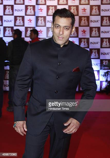 Bollywood actor Salman Khan on red carpet during the function to celebrate 21 years of popular TV show 'Aap ki Adalat' hosted by senior journalist...