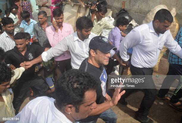 Bollywood actor Salman Khan who has been appointed as the brand ambassador for the Brihanmumbai Municipal Corporations along with Ajoy Mehta...