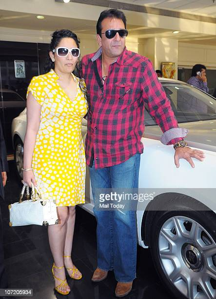 Bollywood actor Sanjay Dutt buys a Rolls Royce 'Ghost' model car for his wife Manyata Dutt on November 29 2010 in Mumbai after she gave birth to twins