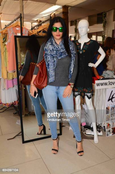 Bollywood actor Sanjay Kapoor's wife Maheep Sandhu during a Charity exhibition Araaish organised by Mana Shetty wife of actor Suniel Shetty at Blue...