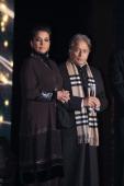 Bollywood actor Shabana Azmi and Sarod mastero Amjad Ali Khan attends the 11th Teacher's Distribution Awards at ITC Maurya on February 11 2012 in New...