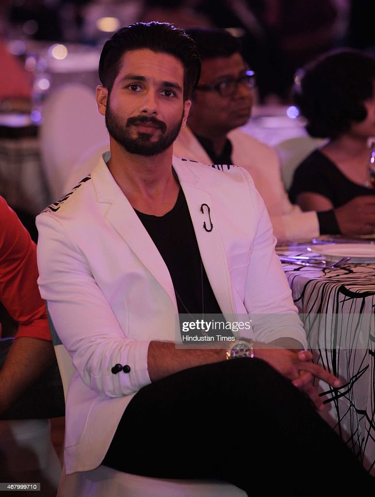 Bollywood actor Shahid Kapoor during the Hindustan Times Mumbai's Most Stylish Awards 2015 at JW Mariott Hotel, Juhu on March 26, 2015 in Mumbai, India.