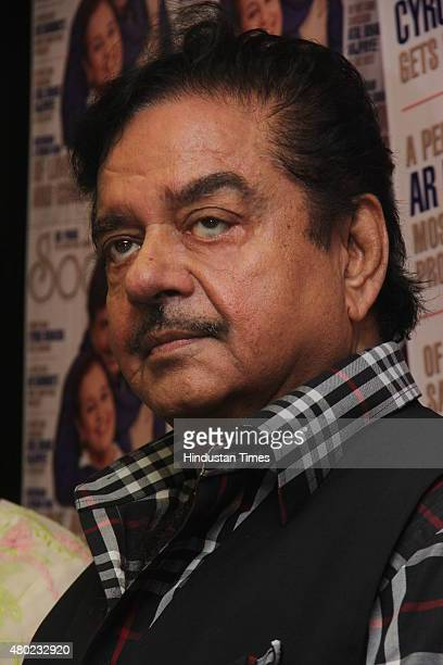 Bollywood actor Shatrughan Sinha during the unveiling of Society magazine July issue at Magna House Prabhadevi on July 8 2015 in Mumbai India