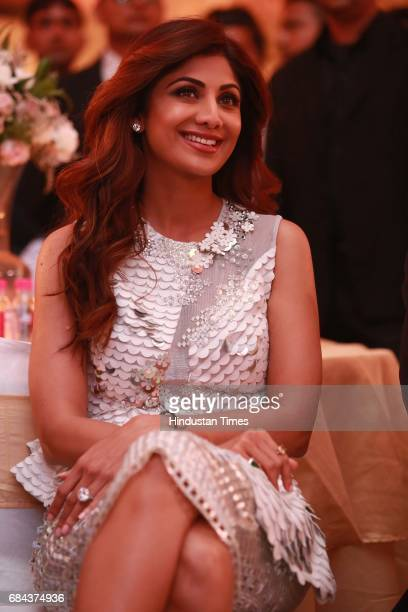 Bollywood actor Shilpa Shetty during the launch of prestigious project Elan Miracle hosted by Real Estate Company Elan Group on May 13 2017 in...