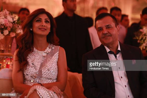 Bollywood actor Shilpa Shetty with Rakesh Kapoor Elan Group Chairman during the launch of prestigious project Elan Miracle hosted by Real Estate...