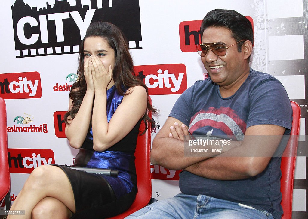 Bollywood actor Shraddha Kapoor and film director Sabbir Khan during an interview for promotion of upcoming movie Baaghi at HT Media office on April 26, 2016 in New Delhi, India.