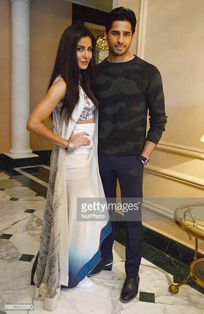 Bollywood actor Sidharth Malhotra and actress Katrina Kaif during the promotion of film Baar Baar Dekho in Kolkata India on 31st August 2016