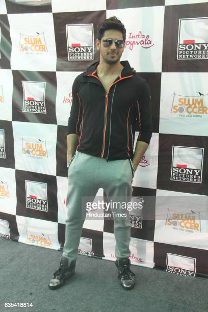 Bollywood actor Sidharth Malhotra during an inauguration of the National Inclusion Cup 2017 at the Andheri Sports Complex on February 14 2017 in...