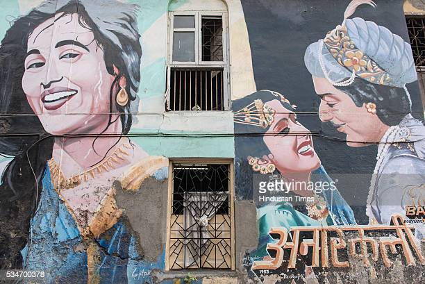 Bollywood actor singer and local girl SarahJane Dias poses in front of the Anarkali graffiti on Chapel Road as she acts as guide to show historical...
