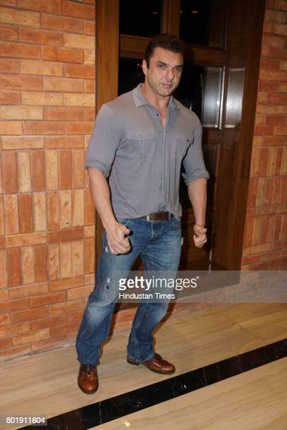 Bollywood actor Sohail Khan during the birthday party of actor Aftab Shivdasani at the Taj Lands End Hotel in Bandra on June 25 2017 in Mumbai India