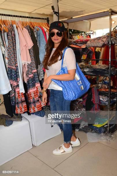 Bollywood actor Sohail Khan's wife Seema Khan during a Charity exhibition Araaish organised by Mana Shetty wife of actor Suniel Shetty at Blue Sea...