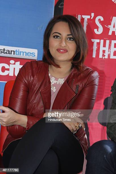 Bollywood actor Sonakshi Sinha during an exclusive interview for her upcoming movie Tevar at HT Media Office on January 05 New Delhi India