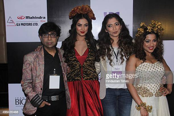 Bollywood actor Sonal Chauhan and RJ Malishka participate for 'Applause for Cause' a fund raising fashion show for an NGO called Access Life that...
