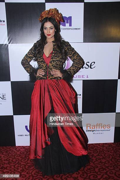Bollywood actor Sonal Chauhan walks the ramp for 'Applause for Cause' a fund raising fashion show for an NGO called Access Life that caters to cancer...