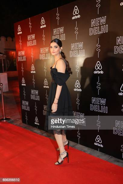 Bollywood actor Sonam Kapoor during a special show curated by designer duo Shantanu Nikhil for the travel platform Airbnb on March 19 in New Delhi...