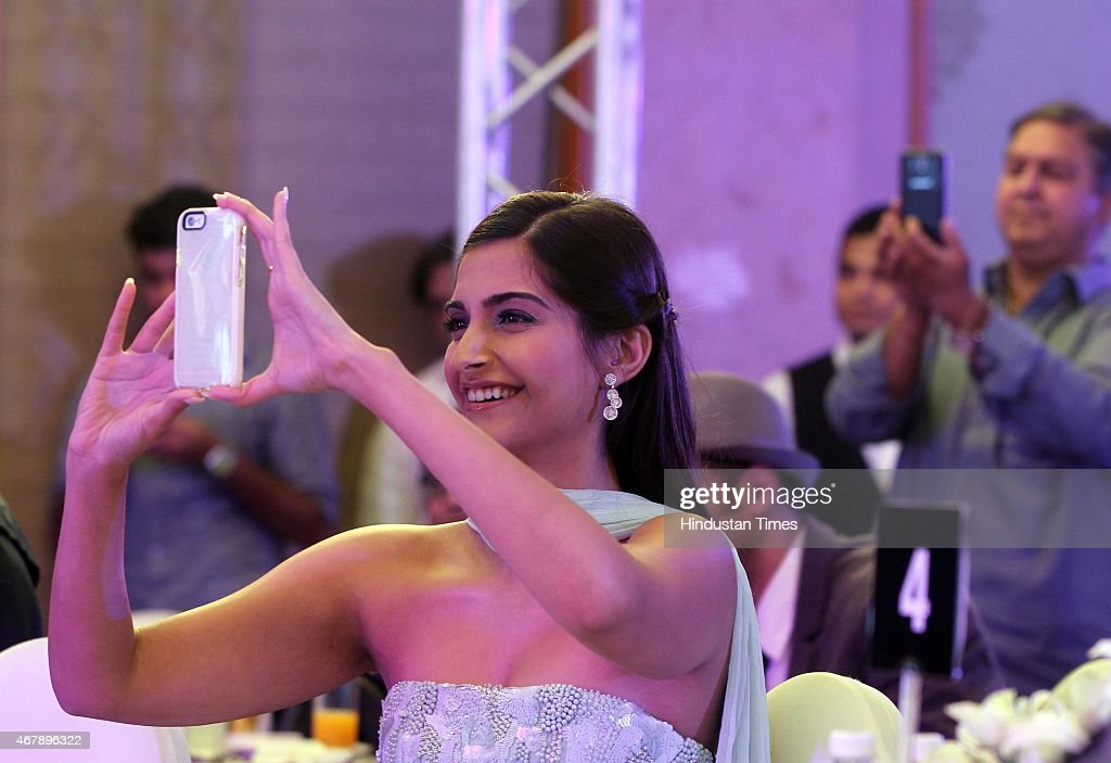 Bollywood actor Sonam Kapoor during the Hindustan Times Mumbai's Most Stylish Awards 2015 at JW Mariott Hotel, Juhu on March 26, 2015 in Mumbai, India.