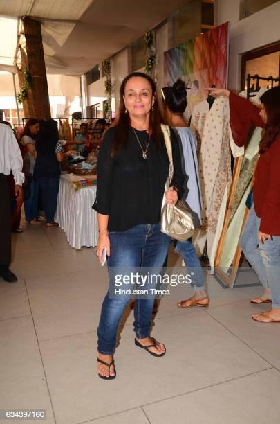 Bollywood actor Soni Razdan during a Charity exhibition Araaish organised by Mana Shetty wife of actor Suniel Shetty at Blue Sea Worli on February 7...