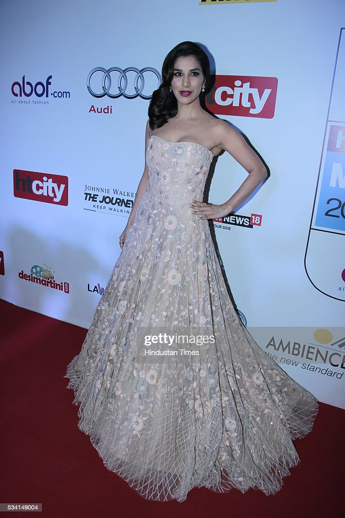 Bollywood actor Sophie Chaudhary arriving at red carpet forHindustan Times Most Stylish Awards 2016 at hotel JW Marriot, Aerocity on May 24, 2016 in New Delhi, India.