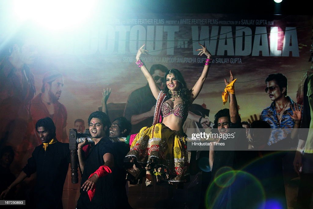 Bollywood actor Sunny Leone performing during the promotion of her upcoming film 'Shootout At Wadala' at The Great India Place, shopping mall on April 21, 2013 in Noida, India. It is the sequel to 2007 film Shootout at Lokhandwala, and is based on the book Dongri to Dubai written by Hussain Zaidi. The film features John Abraham, Anil Kapoor, Kangna Ranaut, Tusshar Kapoor and Sonu Sood in lead roles. The film was expected to release on May 1, 2013, but has been postponed to release on May 3, 2013.