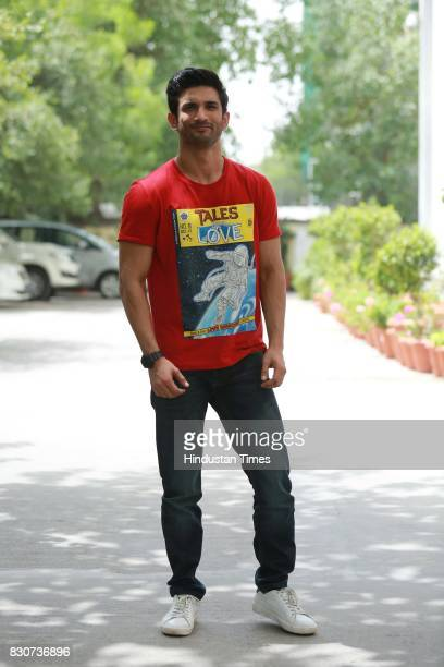 Bollywood actor Sushant Singh Rajput during an exclusive interview with HT CityHindustan Times for the promotion of his upcoming movie Raabta at HT...