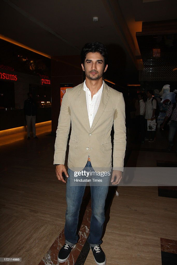 Bollywood actor Sushant Singh Rajput during the IIFA 2013 Press Conference at PVR Andheri on July 1, 2013 in Mumbai, India. At a press conference on Monday, July 1, the International Indian Film Academy (IIFA) announced the performances that will be held at their annual weekend awards ceremony in Macau. Boman and Vir will host the IIFA Rocks event, while Shah Rukh Khan and Shahid Kapoor will compere the IIFA awards ceremony.