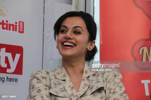 Bollywood actor Taapsee Pannu during an exclusive interview with HT CityHindustan Times for the promotion of film 'Naam Shabana' at HT Media office...