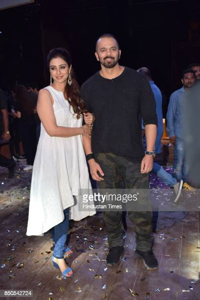 Bollywood actor Tabu with director Rohit Shetty spotted on September 19 2017 in Mumbai India