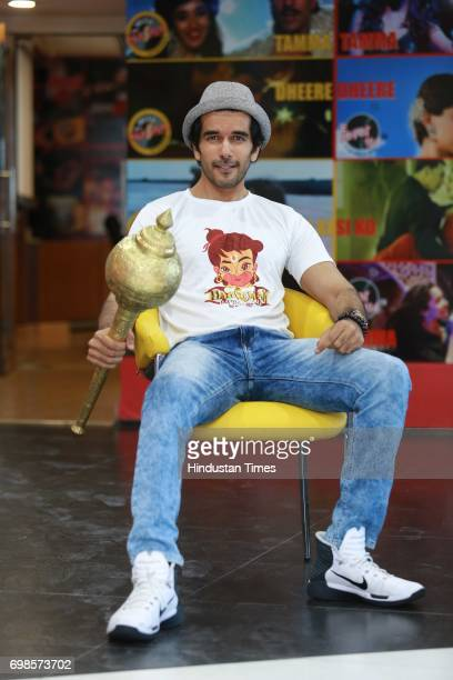 Bollywood actor Tahir Shabbir during an interview for the promotion of his upcoming movie Hanuman Da' Damdaar at HT Media Office on May 29 2017 in...