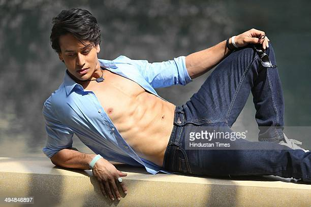 Bollywood actor Tiger Shroff and son of Bollywood actor Jackie Shroff during an exclusive interview with Hindustan Times on May 21 2014 in New Delhi...