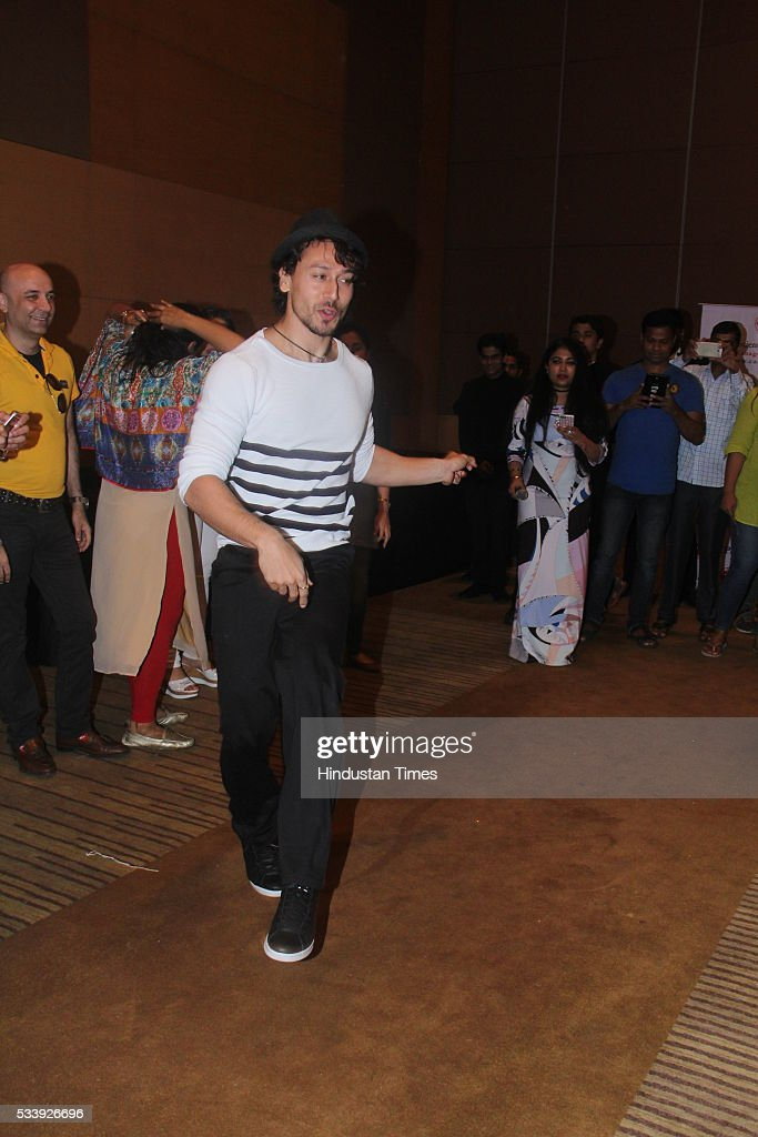 Bollywood actor Tiger Shroff during a charity event for cancer affected kids from Cancer Patients Aid Association (CPAA) o at Grand Hyatt, Santacruz on May 22, 2016 in Mumbai, India.