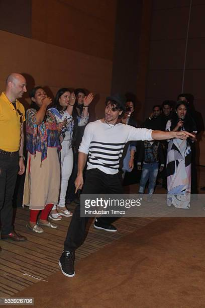Bollywood actor Tiger Shroff during a charity event for cancer affected kids from Cancer Patients Aid Association at Grand Hyatt Santacruz on May 22...