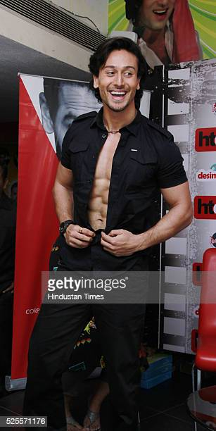 Bollywood actor Tiger Shroff during an interview for the promotion of upcoming movie 'Baaghi' at HT Media office on April 26 2016 in New Delhi India