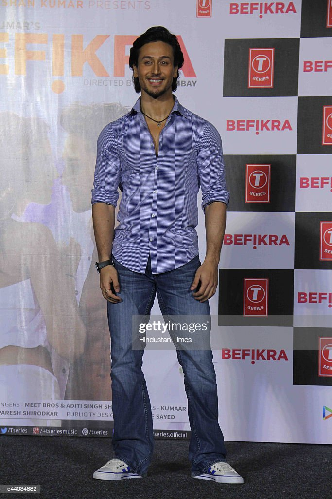 Bollywood actor Tiger Shroff during the launch of single album Befikra, on June 28, 2016 in Mumbai, India.