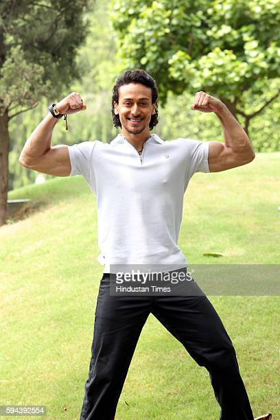 Bollywood actor Tiger Shroff posing for a profile shoot during the promotion of his upcoming film Flying Jatt at Dusit Devrana on August 19 2016 in...