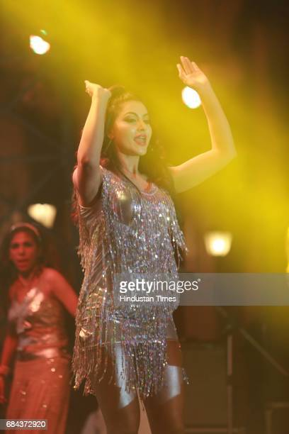 Bollywood actor Urvashi Rautela performs during the launch of prestigious project Elan Miracle hosted by Real Estate Company Elan Group on May 13...