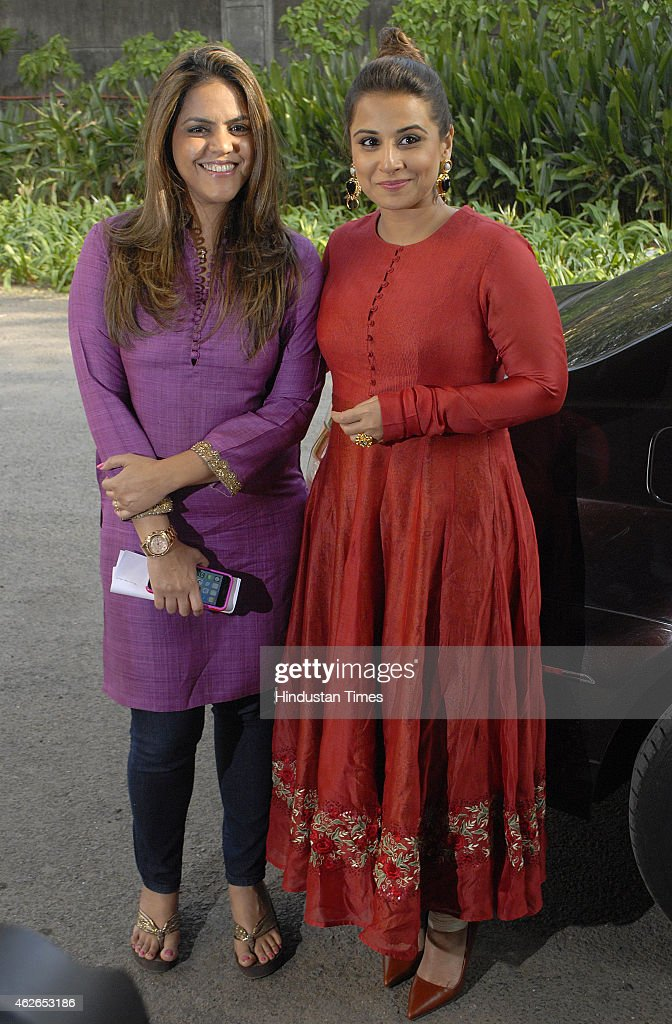 Bollywood actor Vidya Balan with Meghna Ghai during the launch of cultural hub5th veda and the meditation roomI pray at Whistling Woods International...