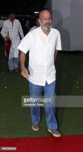 Bollywood actor Vijay Kashyap during the condolence meet of Filmmaker Kundan Shah at Santacruz on October 10 2017 in Mumbai India Kundan Shah the...