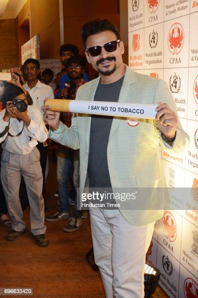 Bollywood actor Vivek Oberoi during a press conference on 'No to Tobacco and Yes to Life' at Grand Hyatt Hotel on May 30 2017 in Mumbai India