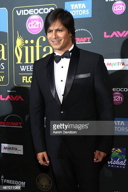 Bollywood actor Vivek Oberoi is interviewed on the green carpet at the IIFA Awards at Raymond James Stadium on April 26 2014 in Tampa Florida