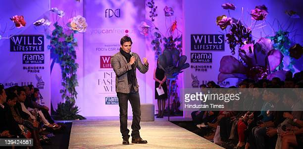 Bollywood actor Vivek Oberoi speaking during You Can Free Us Show at Wills Lifestyle India Fashion Week Autumn Winter 2012 held at Pragati Maiden on...