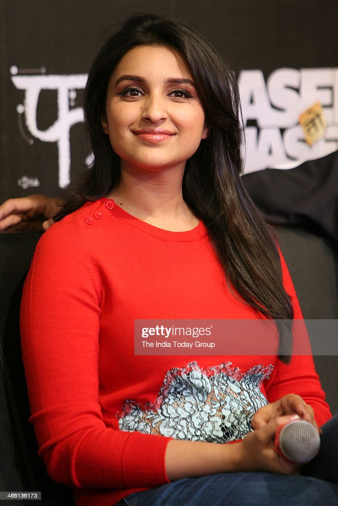 Bollywood actoress Parineeti Chopra at the launch of Hasee Toh Phasee mobile app in Mumbai on 30th January, 2014.
