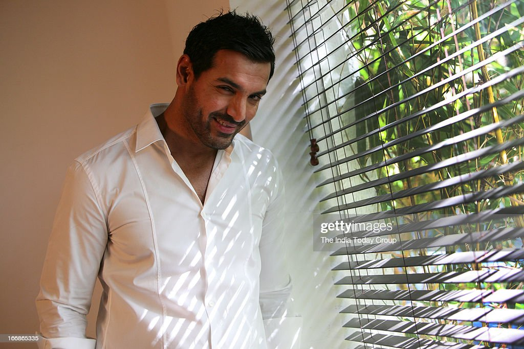 Bollywood actor-producer John Abraham during a video chat on Wednesday with his fans on Facebook.