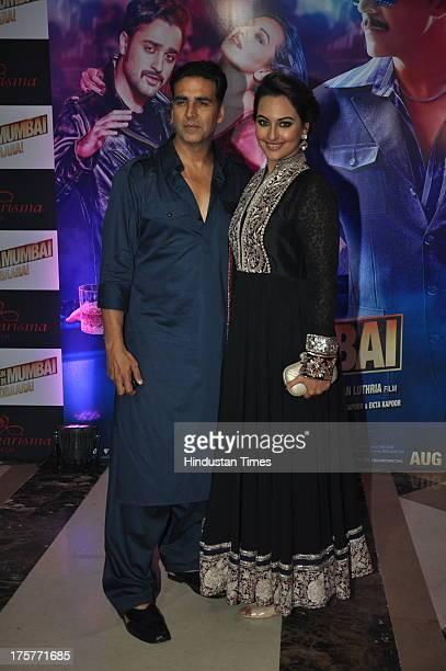 Bollywood actors Akshay Kumar and Sonakshi Sinha at Ekta Kapoor's grand Iftar Party to promote Once Upon a Time in Mumbai Dobara at JW Marriott Hotel...