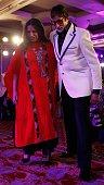 Bollywood actors Amitabh Bachchan and Shabana Azmi during the Hindustan Times Mumbai's Most Stylish Awards 2015 at JW Mariott Hotel Juhu on March 26...