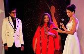 Bollywood actors Amitabh Bachchan Deepika Padukone and Shabana Azmi during the Hindustan Times Mumbai's Most Stylish Awards 2015 at JW Mariott Hotel...