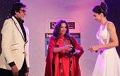 Bollywood actors Amitabh Bachchan Shabana Azmi and Deepika Padukone during the Hindustan Times Mumbai's Most Stylish Awards 2015 at JW Mariott Hotel...