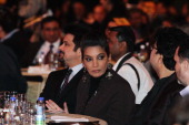 Bollywood actors Anil Kapoor and Shabana Azmi attends the 11th Teacher's Achievement Awards ceremony at ITC Maurya on February 11 2012 in New Delhi...
